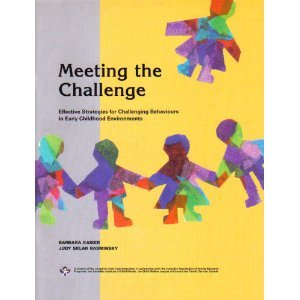 Meeting the Challenge: Effective Strategies for Challenging Behaviours in Early Childhood  1999 edition cover