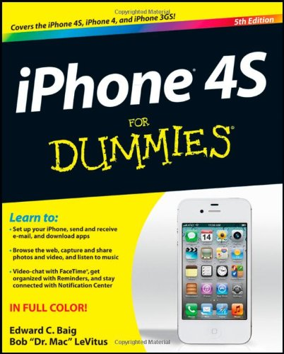 iPhone 4S for Dummies  5th 2011 edition cover