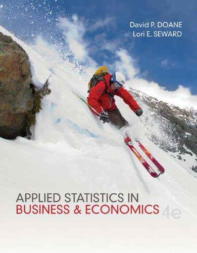 Applied Statistics in Business and Economics with Connect Plus  4th 2013 edition cover