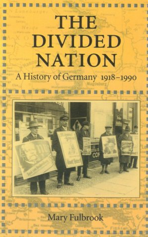 Divided Nation A History of Germany, 1918-1990  1992 edition cover