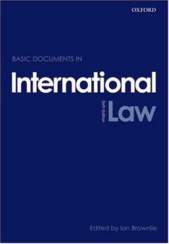 Basic Documents in International Law  6th 2008 edition cover