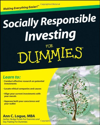 Socially Responsible Investing for Dummies   2009 edition cover