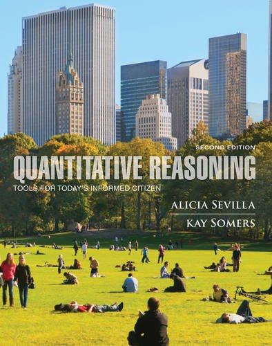Quantitative Reasoning Tools for Today's Informed Citizen  2nd 2013 edition cover