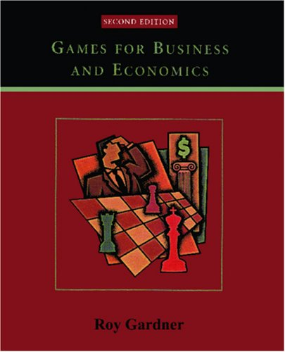 Games for Business and Economics  2nd 2003 (Revised) edition cover
