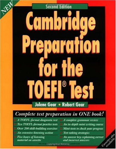 Cambridge Preparation for the TOEFL Test  2nd 1996 9780521577717 Front Cover