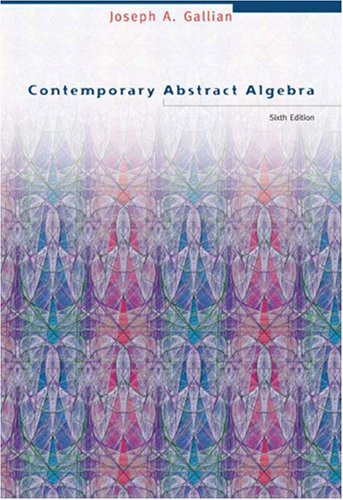 Contemporary Abstract Algebra  6th 2006 edition cover