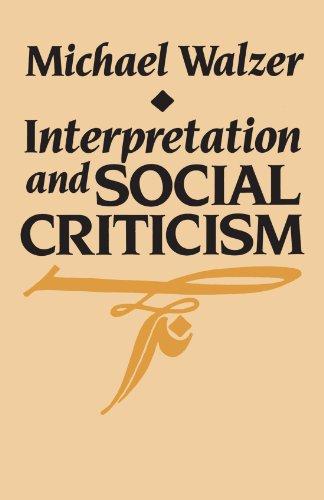 Interpretation and Social Criticism   1987 edition cover