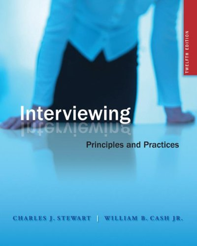 Interviewing Principles and Practices 12th 2008 edition cover