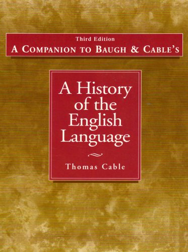 History of the English Language  3rd 2002 edition cover