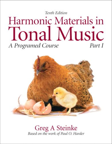 Harmonic Materials in Tonal Music A Programed Course 10th 2010 edition cover