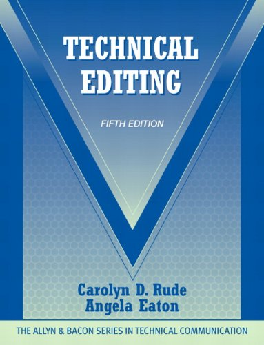 Technical Editing  5th 2011 edition cover