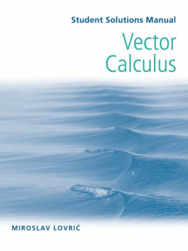Vector Calculus   2007 (Student Manual, Study Guide, etc.) edition cover