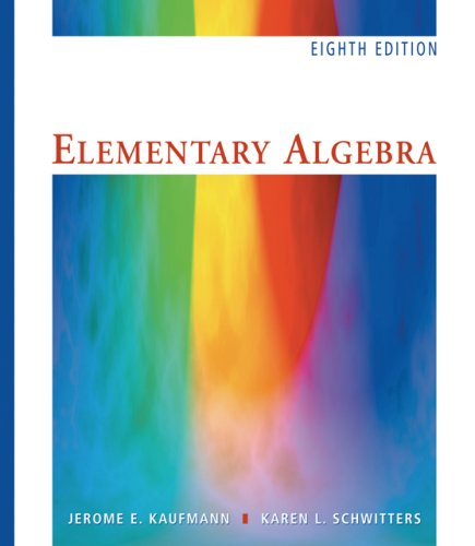 Elementary Algebra  8th 2007 (Revised) 9780495105718 Front Cover