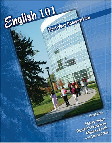 English 101 First-Year Composition 3rd (Revised) edition cover