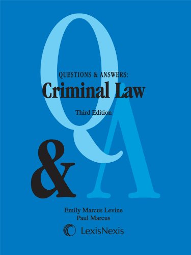 Criminal Law:   2012 edition cover