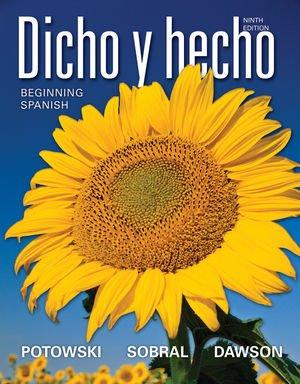 DICHO Y HECHO,VOL.1 >CUSTOM< N/A 9781118131718 Front Cover