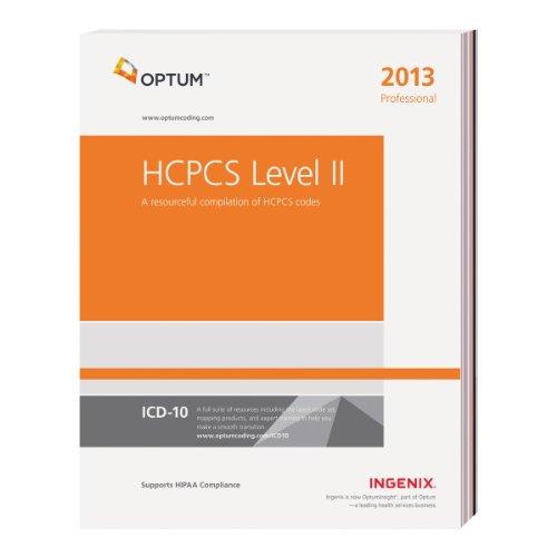 HCPCS 2013 Level II Professional:  2012 edition cover