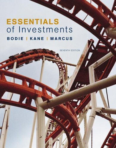 Essentials of Investments  7th 2008 edition cover