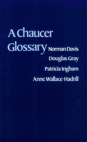 Chaucer Glossary   1979 edition cover