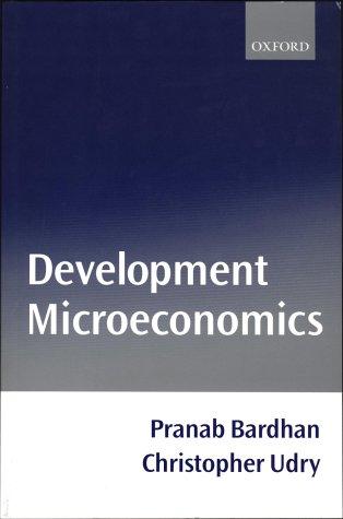 Development Microeconomics   1999 edition cover