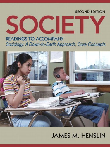 Society Readings to Accompany Sociology 2nd 2009 edition cover