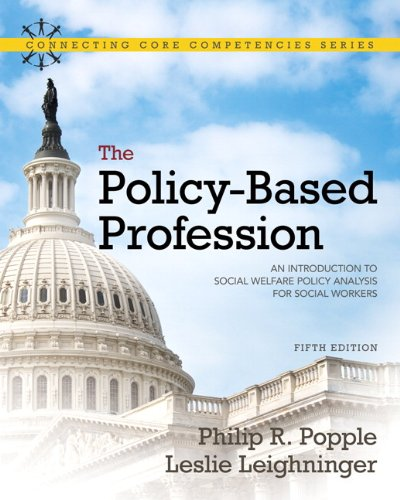 Policy-Based Profession An Introduction to Social Welfare Policy Analysis for Social Workers 5th 2011 edition cover