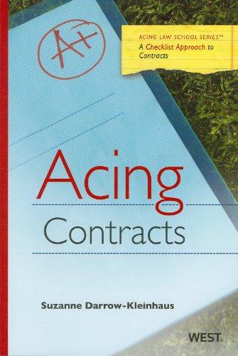 Darrow-Kleinhaus' Acing Contracts   2010 edition cover