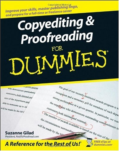 Copyediting and Proofreading for Dummies   2007 edition cover