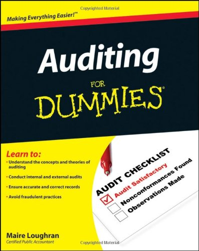 Auditing for Dummies   2010 9780470530719 Front Cover