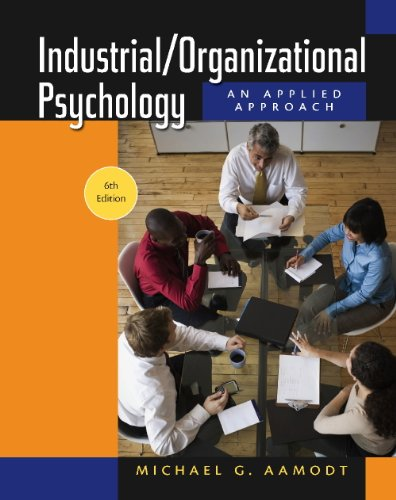 Industrial/Organizational Psychology  6th 2010 (Workbook) 9780495603719 Front Cover