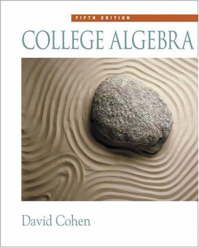 College Algebra  5th 2003 edition cover