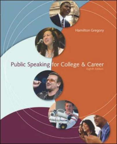 Public Speaking for College and Career  8th 2008 (Revised) edition cover