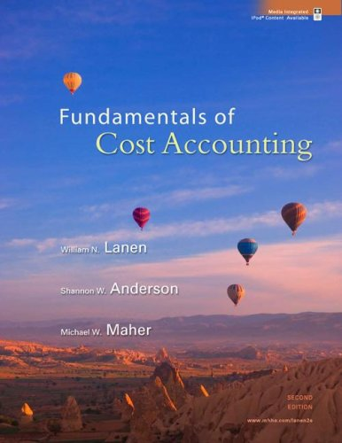 Fundamentals of Cost Accounting  2nd 2008 9780073526720 Front Cover