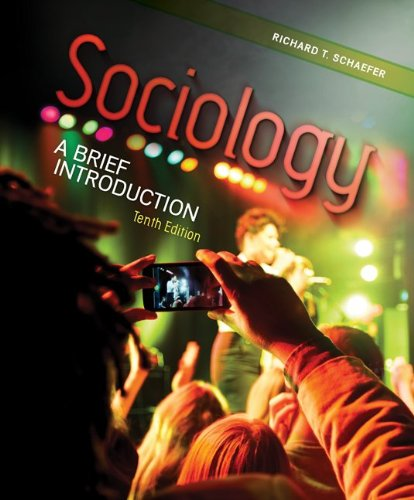 Sociology A Brief Introduction 10th 2013 9780078026720 Front Cover