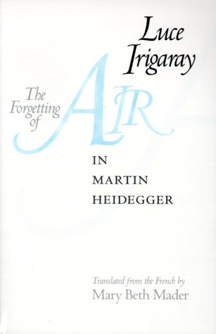 Forgetting of Air in Martin Heidegger   1999 edition cover