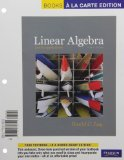 Linear Algebra and Its Applications, Books a la Carte Edition  4th 2012 edition cover