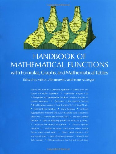 Handbook of Mathematical Functions With Formulas, Graphs, and Mathematical Tables  1965 9780486612720 Front Cover
