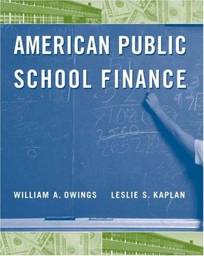 American Public School Finance   2006 9780534643720 Front Cover