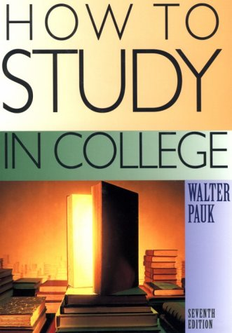 How to Study in College  7th 2001 edition cover