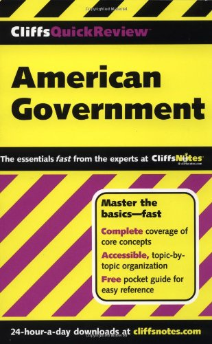 CliffsQuickReview American Government   2001 edition cover