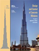 Design and Control of Concrete Mixtures 15th edition cover
