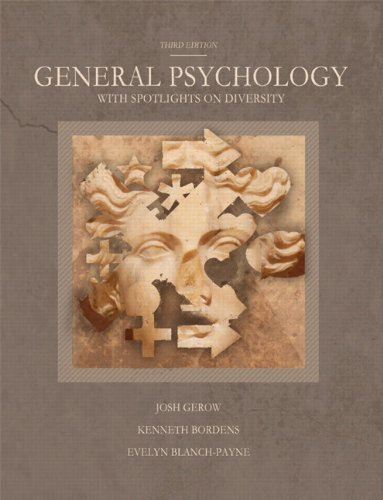 General Psychology with Spotlights on Diversity  3rd 2012 edition cover