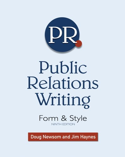 Public Relations Writing Form and Style 9th 2011 edition cover