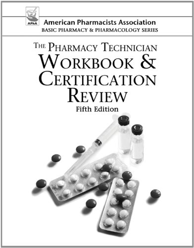 The Pharmacy Technician Workbook and Certification Review:   2013 edition cover