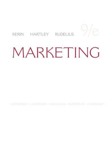 Marketing  9th 2009 edition cover