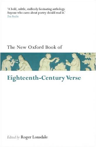 New Oxford Book of Eighteenth-Century Verse   2009 (Reissue) edition cover