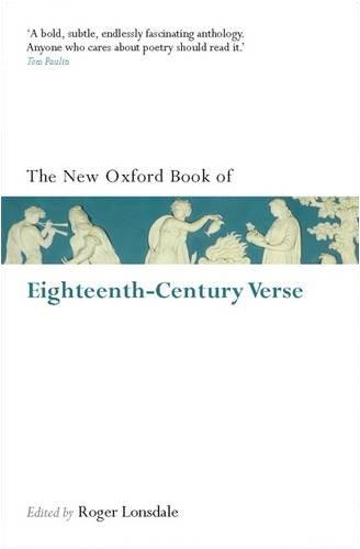 Oxford Book of Eighteenth-Century Verse Reissue  2009 (Reissue) 9780199560721 Front Cover