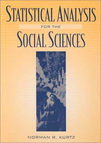 Statistical Analysis for the Social Sciences   1999 edition cover