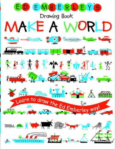Ed Emberley's Drawing Book - Make a World Learn to Draw the Ed Emberley Way!  2006 edition cover