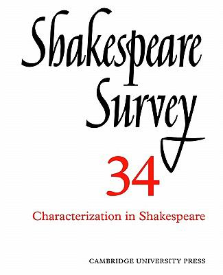 Characterization in Shakespeare   2002 9780521523721 Front Cover